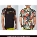 Manto Floral Short Sleeve Grappling...
